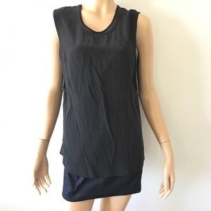 Allsaints Silk Layer Dress Black 0
